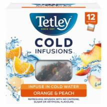 Tetley Cold Infusions Orange & Peach 12db