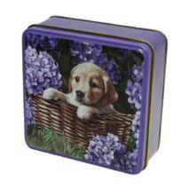 Grandma Wild's Embossed Puppy in a Basket Tin (Kutyakölyök fémdobozos vajas keksz) 100g