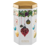 Farmhouse Biscuits Hexagonal Bauble Tin (Fémdobozos vajkaramellás keksz) 200g