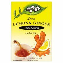 Dalgety Lemon & Ginger (citrom-gyömbér) tea 20 db filter