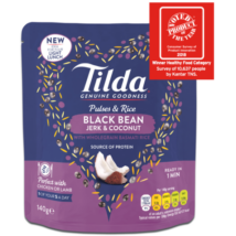 Tilda Pulses & Rice Black Bean, Jerk & Coconut 140g