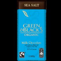 Green & Black's Sea Salt (Tejcsokoládé tengeri sóval) 100g