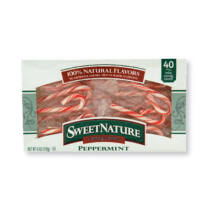 Sweet Nature Peppermint Mini Candy Canes 170g