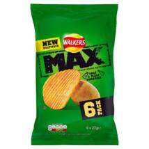 Walkers Max Salt & Vinegar Chips 6x27g