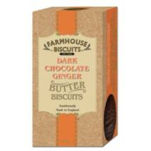 Farmhouse Biscuits - Luxury Dark Chocolate Coated Ginger 150g