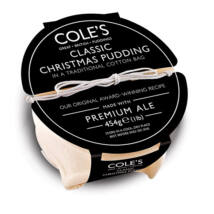 Coles Classic Christmas Pudding with Premium Ale 454g