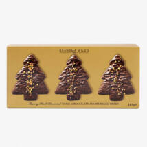 Grandma Wild's Dark Chocolate Christmas Tree with Gold Sparkle Box 165g