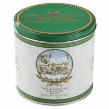 Farmhouse Biscuits - Christmas Cottage Round Tin 450g