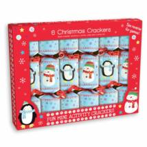 "Giftmaker Penguin And Snowman Christmas Crackers ( 6db 6"" méretű cracker)"