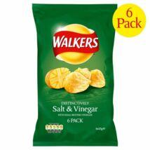 Walkers Salt & Vinegar Chips - Sós/Ecetes 6x25g