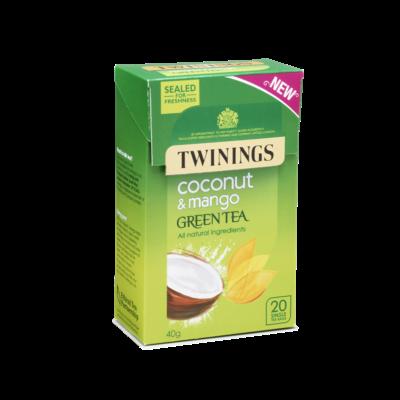 Twinings Green Tea, Coconut & Mango - 20 db filter