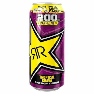 Rockstar Tropical Guava PM 99p 25% More Taste More Caffeine 500ml