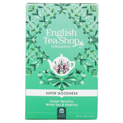 English Tea Shop - Green Sencha, White Tea & Matcha Tea 20 db borítékolt filter