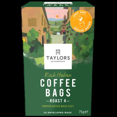 Taylors Of Harrogate  Rich Italian Coffee Bags 10 db filter