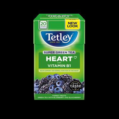 Tetley Super Green Tea Heart Forest Fruits 20 db filter