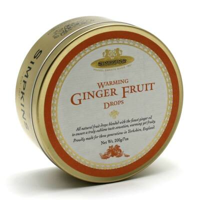 Simpkins Traditional Warming Ginger Fruit Drops 200g