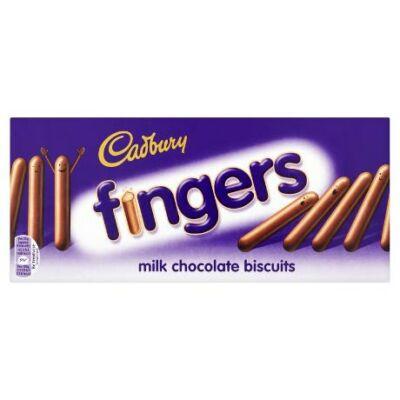 Cadbury Fingers Milk Chocolate - Ropogós pálcikák tejcsokoládé bevonattal