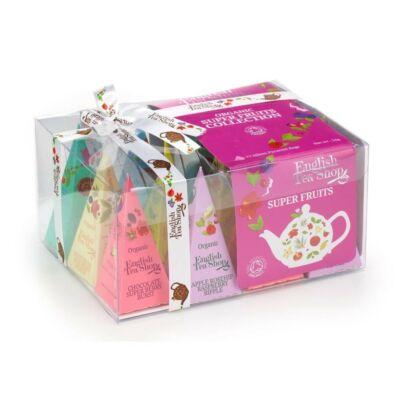 English Tea Shop Szuper Gyümölcsös tea válogatás 12 selyemfilter
