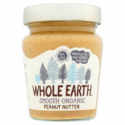 Whole Earth Smooth Organic Peanut Butter (Bio mogyoróvaj) 340g