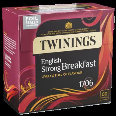 Twinings 1706 Strong Breakfast Tea 80 db filter