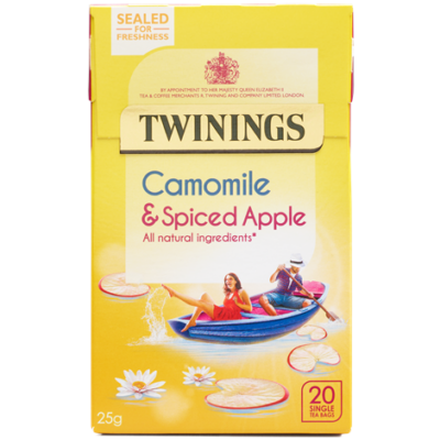 Twinings Camomile & Spiced Apple Tea (Kamilla, alma és fahéj tea) 20 db filter