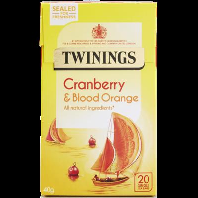 Twinings Cranberry and Blood Orange Tea (Vörösáfonya és Vérnarancs Tea) 20 db filter