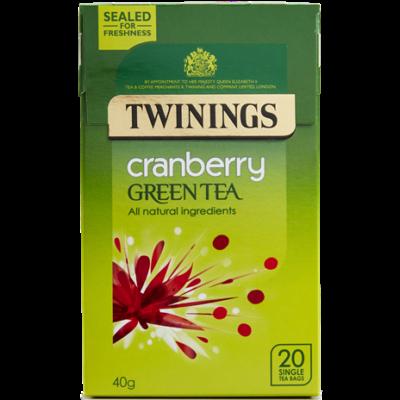 Twinings Green Tea with Cranberry  (Zöld Tea Vörösáfonyával) 20db filter