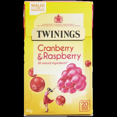 Twinings Cranberry & Raspberry Tea (Vörösáfonya, Málna és  Bodzavirág Tea) 20 db filter