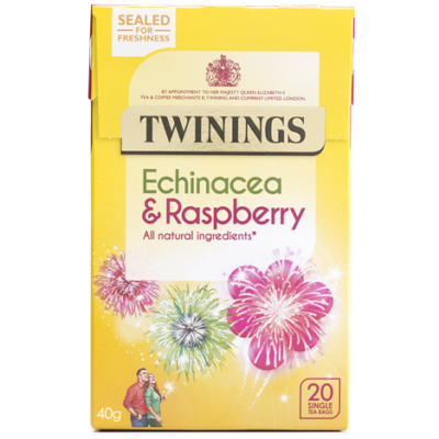 Twinings Echinacea & RaspberryTea (Kasvirág és Málna Tea) 20 db filter