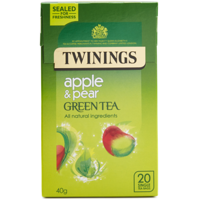 Twinings Green Tea with Pear and Apple (Zöld Tea Almával és Körtével) 20db filter