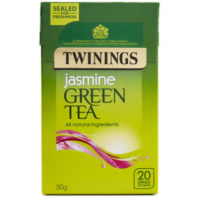 Twinings Green Tea with Jasmine (Zöld Tea Jázminnal) 20 db filter