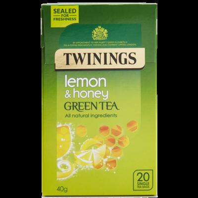 Twinings Green Tea, Honey & Lemon (zöld tea mézzel és citrommal) 20 db filter
