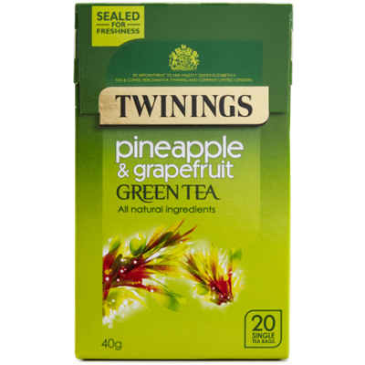 Twinings Green Tea with Pineapple and Grapefruit  (Zöld Tea Ananásszal és Grapefruittal) 20 db filter