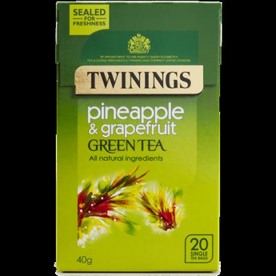 Twinings Green Tea with Pineapple and Grapefruit  (Zöld Tea Ananásszal és Grapefruittal) 20 db filter