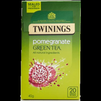 Twinings Green Tea & Pomegranate Tea (Zöld Tea Gránátalmával) 20db filter