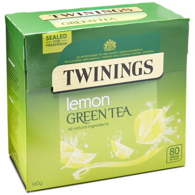 Twinings Green Tea Lemon (zöld tea citrommal)  80 db filter