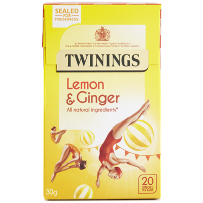 Twinings Lemon and Ginger Tea (Citrom, Gyömbér) - 20 db filter
