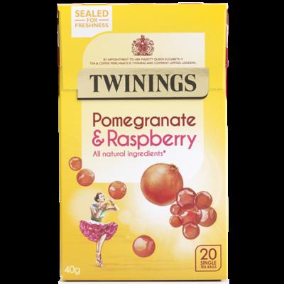Twinings Pomegranate & Raspberry Tea (Gránátalma és málna tea) 20 db filter