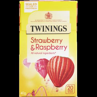 Twinings Strawberry & Raspberry Tea (Málna, Eper és Málnaszeder Tea) 20 db filter