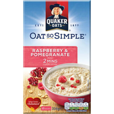 Quaker Oats So Simple Raspberry & Pomegranate (10 instant tasak)