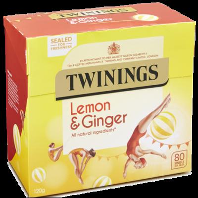 Twinings Lemon and Ginger Tea (Citrom, Gyömbér) - 80 db filter