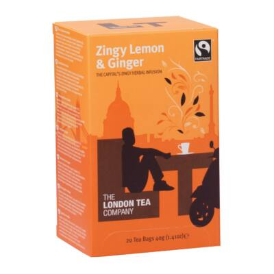 The London Tea Company Zesty Lemon & Ginger Tea 20 enveloped teabags