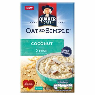 Quaker Oat So Simple Coconut Porridge 10x33.3g (10 tasak)