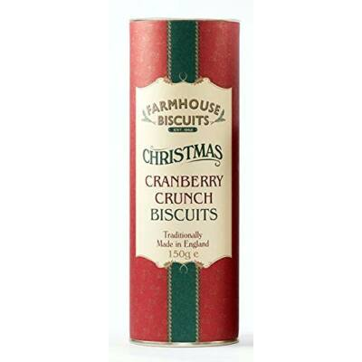 Farmhouse Biscuits Chistmas Cranberry Crunch Biscuits (Vörösáfonyás keksz kartonhengerben) 150g