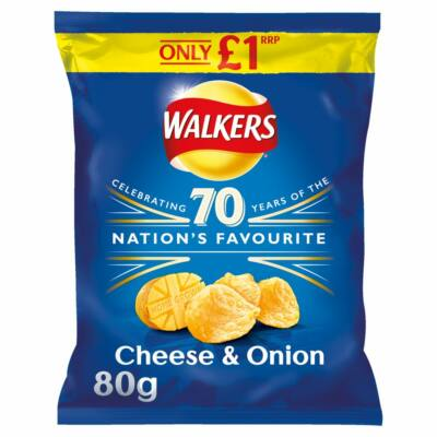 Walkers Cheese & Onion Crisps 75g