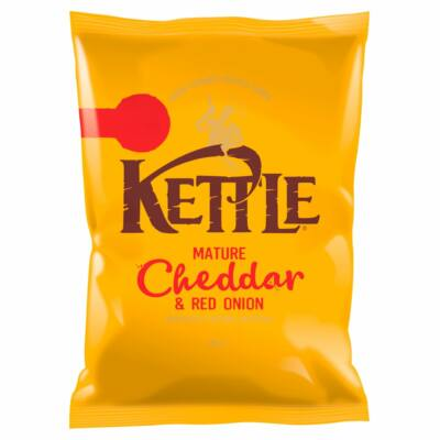Kettle Mature Cheddar & Red Onion Chips 80g