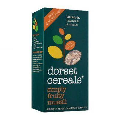 Dorset Cereals Simply Fruity Muesli (Egyszerûen Gyümölcsös Müzli) 820g