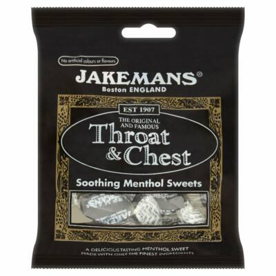 JAKEMANS Throat & Chest Sweets (Mentolízû cukorka) 100g