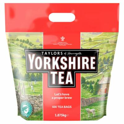 Taylors of Harrogate Yorkshire Tea 2 Cups 600 Tea Bags 1.875kg