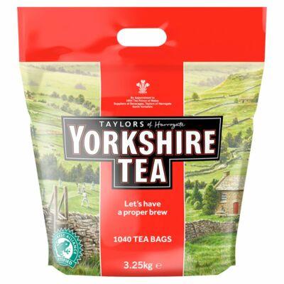 Taylors of Harrogate Yorkshire Tea 2 Cups 1040 Tea Bags 3.25kg